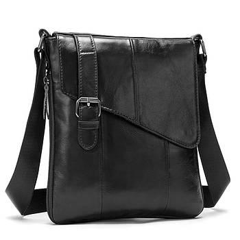 Чоловіча сумка через плече Натуральна шкіра Барсетка Чоловіча шкіряна сумка для документів Коричнева