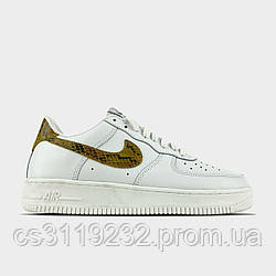 Жіночі кросівки Nike Air Force 1 Low White Snake (білі)