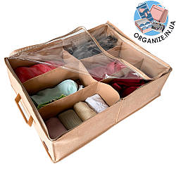 Органайзер для хранения обуви на 6 пар ORGANIZE (бежевый)