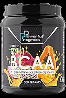 Аминокислоты AMINO BCAA 2:1:1 + Glutamine Powerful Progress 500 гр