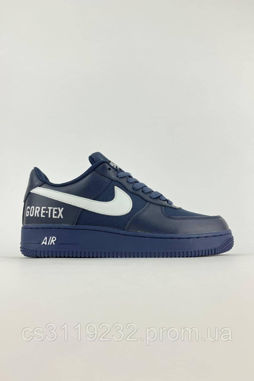 Мужские кроссовки Nike Air Force 1 Low Gore-Tex Blue (синий)