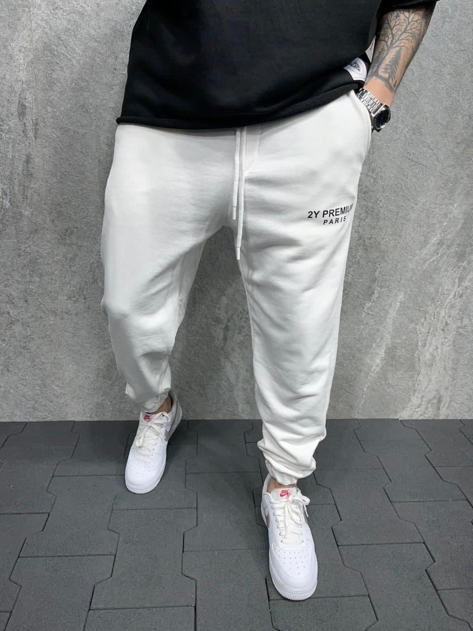 Мужские спортивные штаны белые 2Y Premium Paris P5264