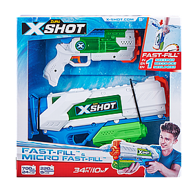 Набір водних бластерів Zuru X-Shot Fast Fill Medium And Small