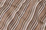 Отрез ткани Duck с мелкой коричневой и бежевой полоской, размер 80*160 см, фото 4