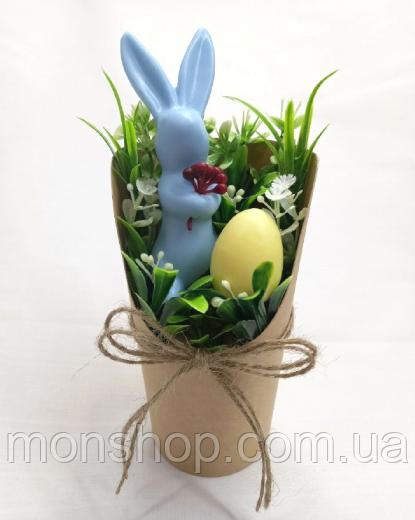 Мыло Пасхальный заяц с яичком (цвет на выбор)