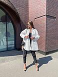 Рубашка женская стильная удлиненная Оверсайз, фото 3