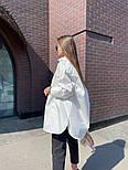Рубашка женская стильная удлиненная Оверсайз, фото 4