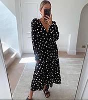 Стильне жіноче приталена сукня з довгим рукавом, фото 1