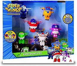 Супер крила Джетт і його друзі літаки трансформери 3 серія 10 фігурок Auldey Super Wings World