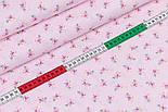 """Клапоть попліну """"Дрібні рожеві трояндочки і білі точки на рожевому"""" (№3346), розмір 34*120 см, фото 3"""