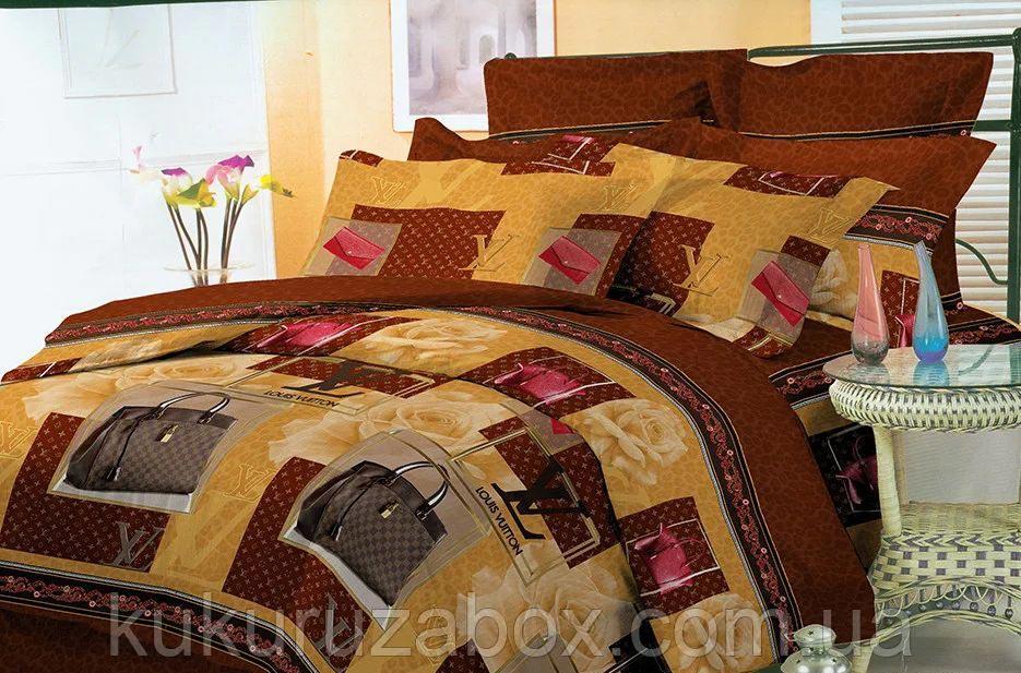 Все размеры. Комплект постельного белья коричневый из полиэстера «Модная сумка»