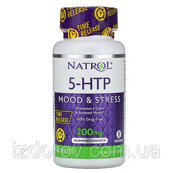 Natrol, 5-HTP, 200 мг, повільне вивільнення, максимальна сила, 30 таблеток