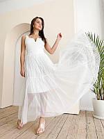 Женская длинная юбка молоко