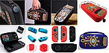 Комплект Мега Deluxe Zelda для Nintendo Switch кейс + накладки + тримач + скло, фото 2