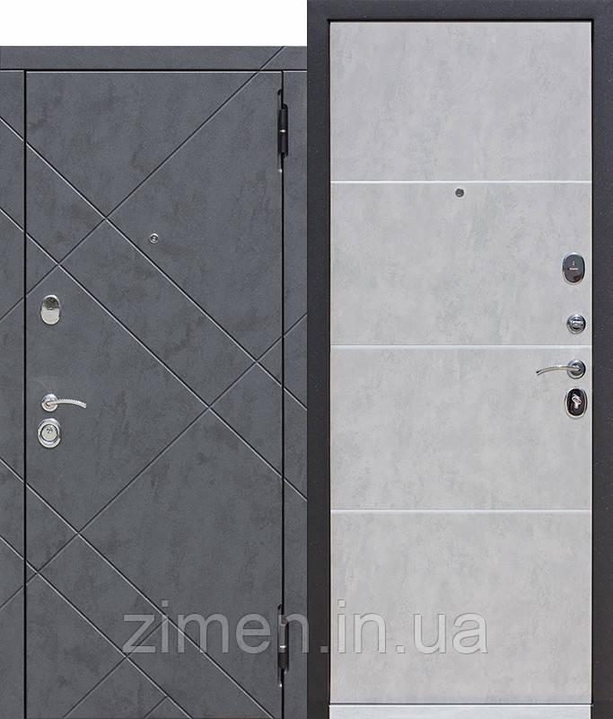 Вхідні двері 9 см БРУКЛІН Бетон графіт / Бетон попелястий