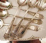 Набір антикварних посріблених столових ложок, EPNS, Англія,WBT, орієнтовно 30-ті роки, фото 4