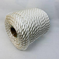 Канат капроновый 8 мм - 50 м полиамидный, крученый, фото 2