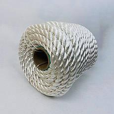 Канат капроновый 8 мм - 50 м полиамидный, крученый, фото 3