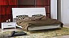 Кровать Рома без каркаса с мягкой спинкой Белый глянец ТМ МироМарк, фото 2