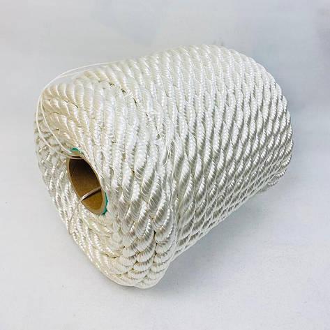 Канат капроновый 26 мм - 50 м полиамидный, крученый, фото 2