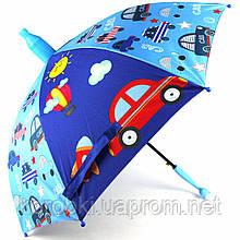 Зонт-трость детский с встроенным пластиковым чехлом-телескопом  Длина 70 см, диаметр 84 см. Полуавтомат