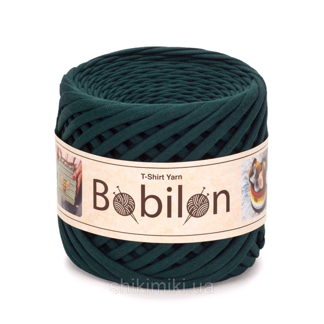 Пряжа трикотажна Bobilon (7-9 мм), колір Темно-зелений