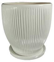 """Горшок керамический """"Гофре"""" 4.8л Rezon P022"""
