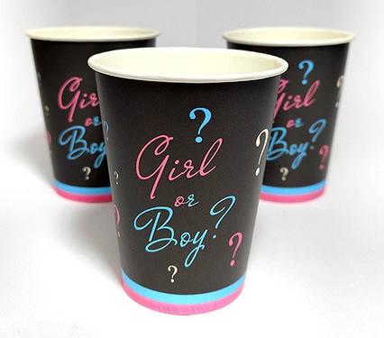 Святкові паперові стаканчики хлопчик чи дівчинка Baby shower 10 штук