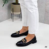 Лакові лофери туфлі на платформі