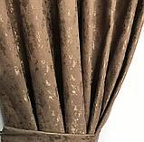Готовые мраморные шторы Комплект штор з подхватами Шторы под мрамор Шторы 200х270 Цвет Коричневый, фото 4