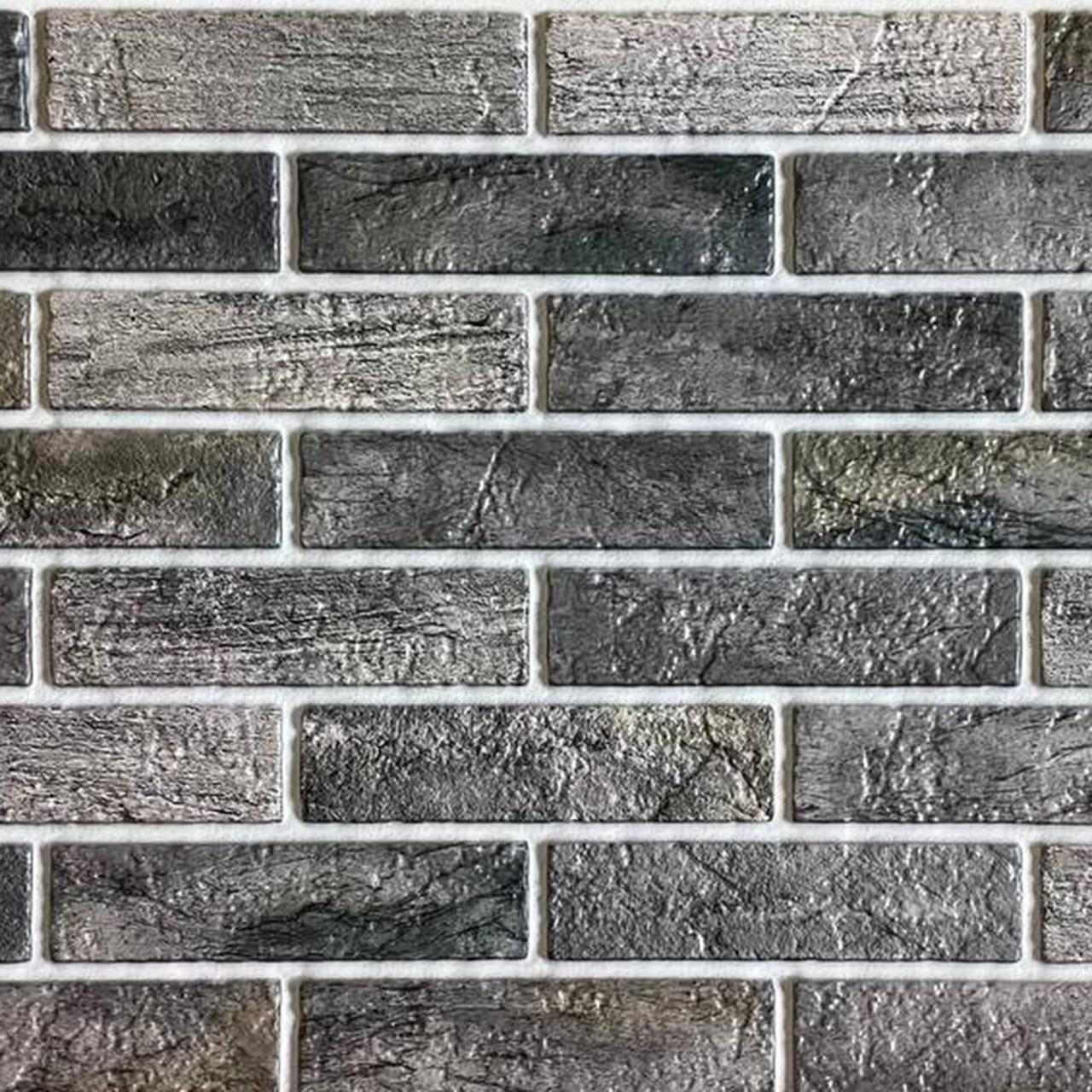 Стеновая декоративная пластиковая панель ПВХ  - КИРПИЧ БИСМАРК Лофт (960х485) мм