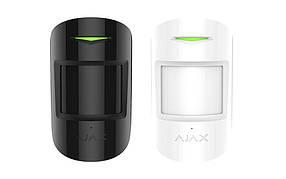Бездротовий датчик руху та розбиття скла з імунітетом до тварин Ajax CombiProtect black/white