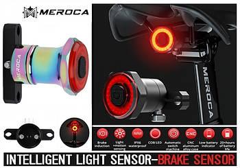 MEROCA Kinetic MX2 COLORFULL Умный Велосипедный Фонарь+Автостоп и Авторежим (100LM, 500mAh, LED*20, USB, IPX6)