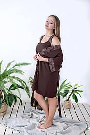 Халат жіночий з мереживом Marsana