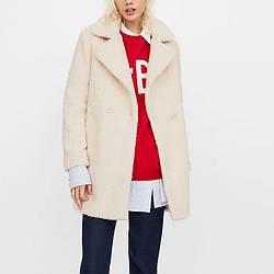 Пальто женское двубортное из искусственного меха White warmth Berni Fashion (S)
