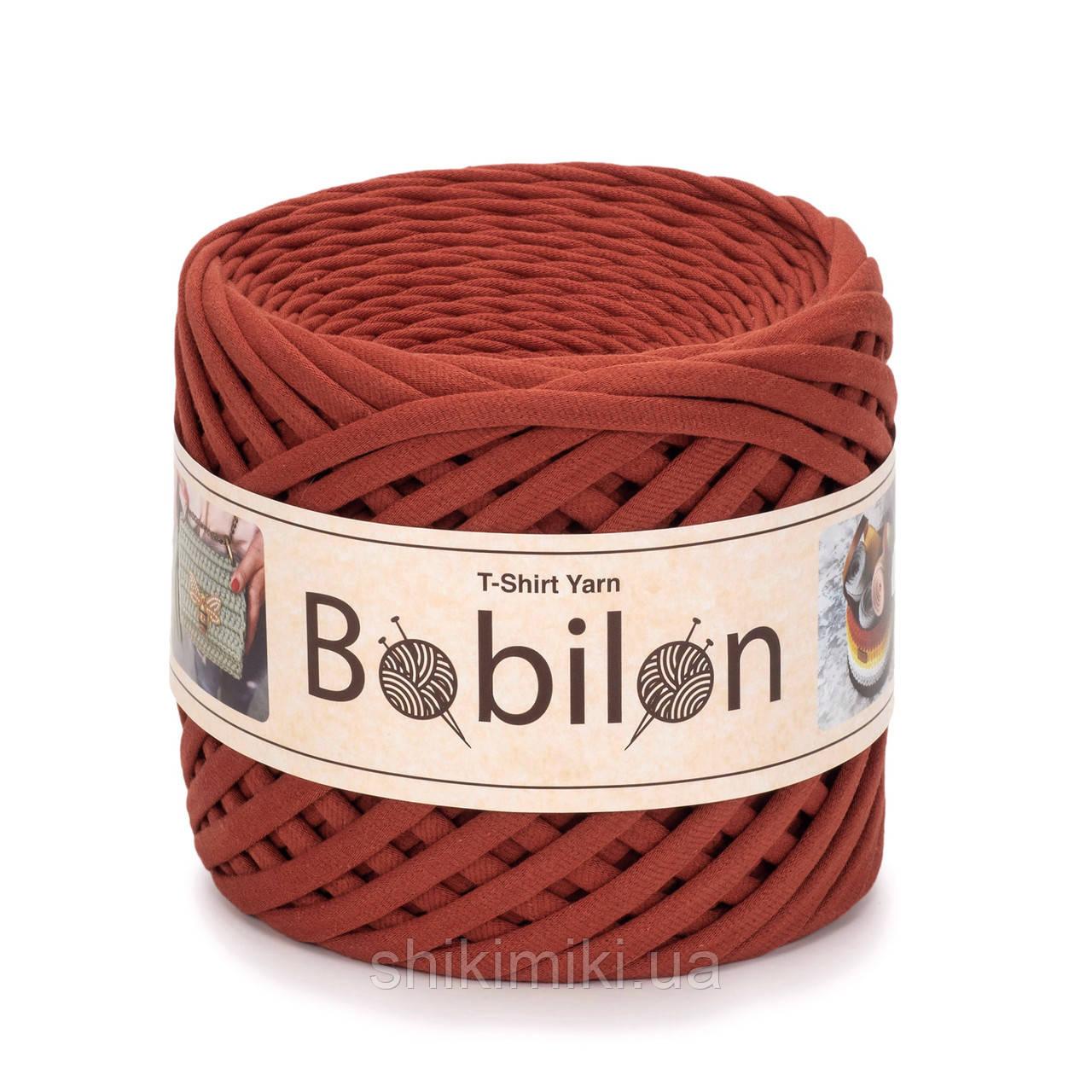Трикотажная пряжа Bobilon (5-7 мм), цвет Терракотовый