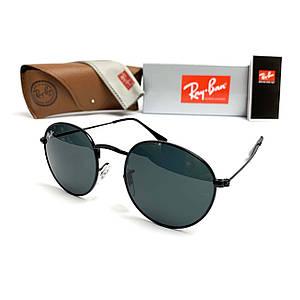 Солнцезащитные Очки R-B Round Metal 3447 Черные Минеральное Стекло