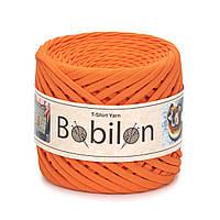 Пряжа трикотажна Bobilon (5-7 мм), колір Помаранчевий Апельсин