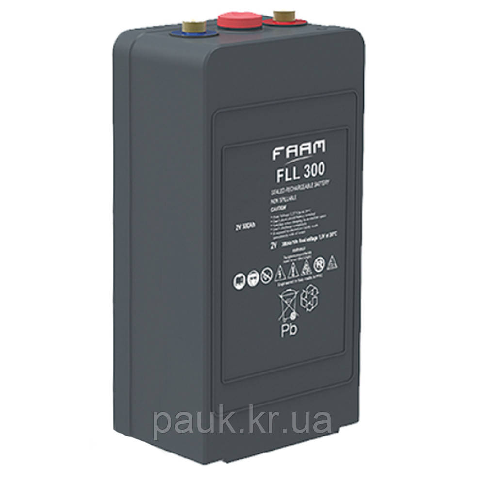 Акумулятор FAAM FLL 2-300, герметична батарея AGM, свинцево-кислотні АКБ