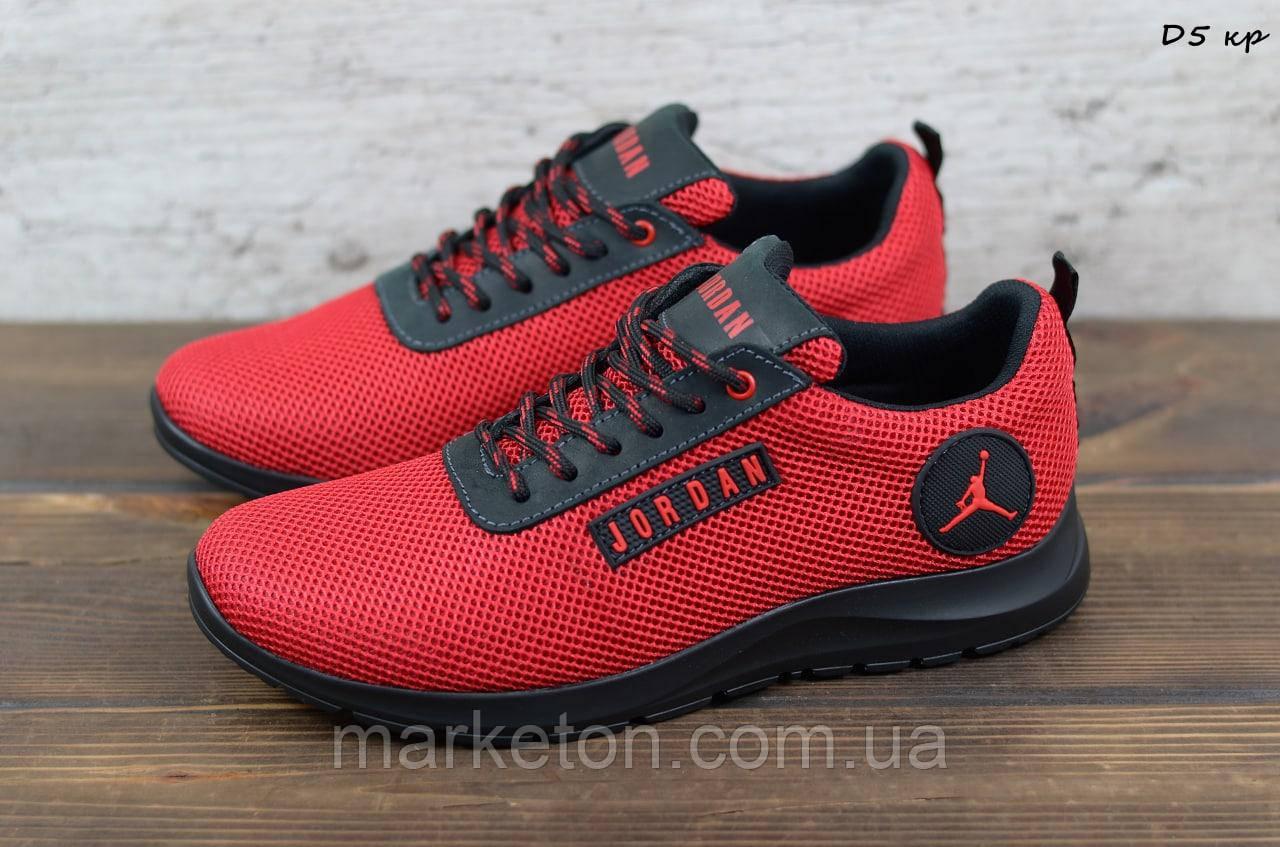 Мужские текстильные кроссовки Красные Jordan