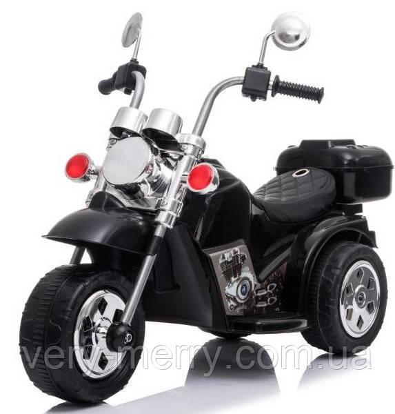 Дитячий електромобіль-мотоцикл Сһоррег (чорний колір)
