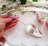 Посріблена німецька лопатка для торта, з трояндою на ручці сріблення, Antiko 100, Німеччина, вінтаж, фото 8