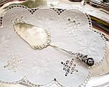 Посріблена німецька лопатка для торта, з трояндою на ручці сріблення, Antiko 100, Німеччина, вінтаж, фото 2