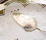 Посріблена німецька лопатка для торта, з трояндою на ручці сріблення, Antiko 100, Німеччина, вінтаж, фото 4