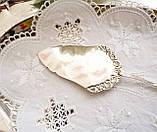 Посріблена німецька лопатка для торта, з трояндою на ручці сріблення, Antiko 100, Німеччина, вінтаж, фото 3