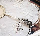 Посріблена німецька лопатка для торта, з трояндою на ручці сріблення, Antiko 100, Німеччина, вінтаж, фото 5