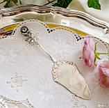 Посріблена німецька лопатка для торта, з трояндою на ручці сріблення, Antiko 100, Німеччина, вінтаж, фото 7