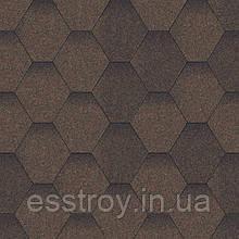Битумная черепица Мозаика коричневый микс