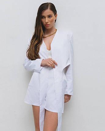 Костюм женский летний (пиджак, шорты) AniTi 629, молочный, фото 2