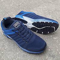Кроссовки Bonote текстиль сетка тёмно-синие р.45